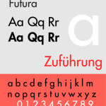 My first favorite typeface: Futura